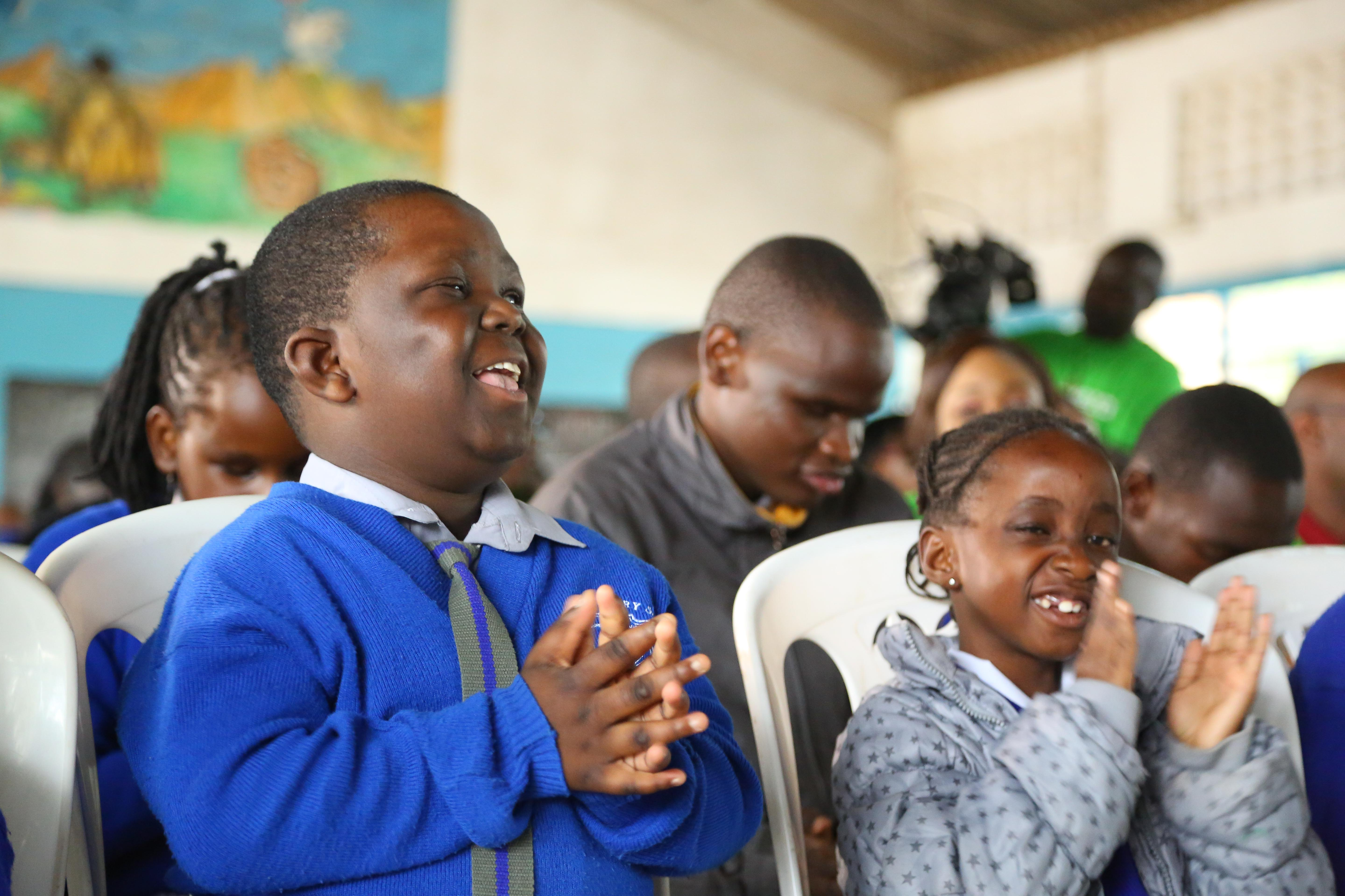 Pupils of Kilimani Integrated Primary School, Nairobi are part of learners who got audio books and playback equipment.