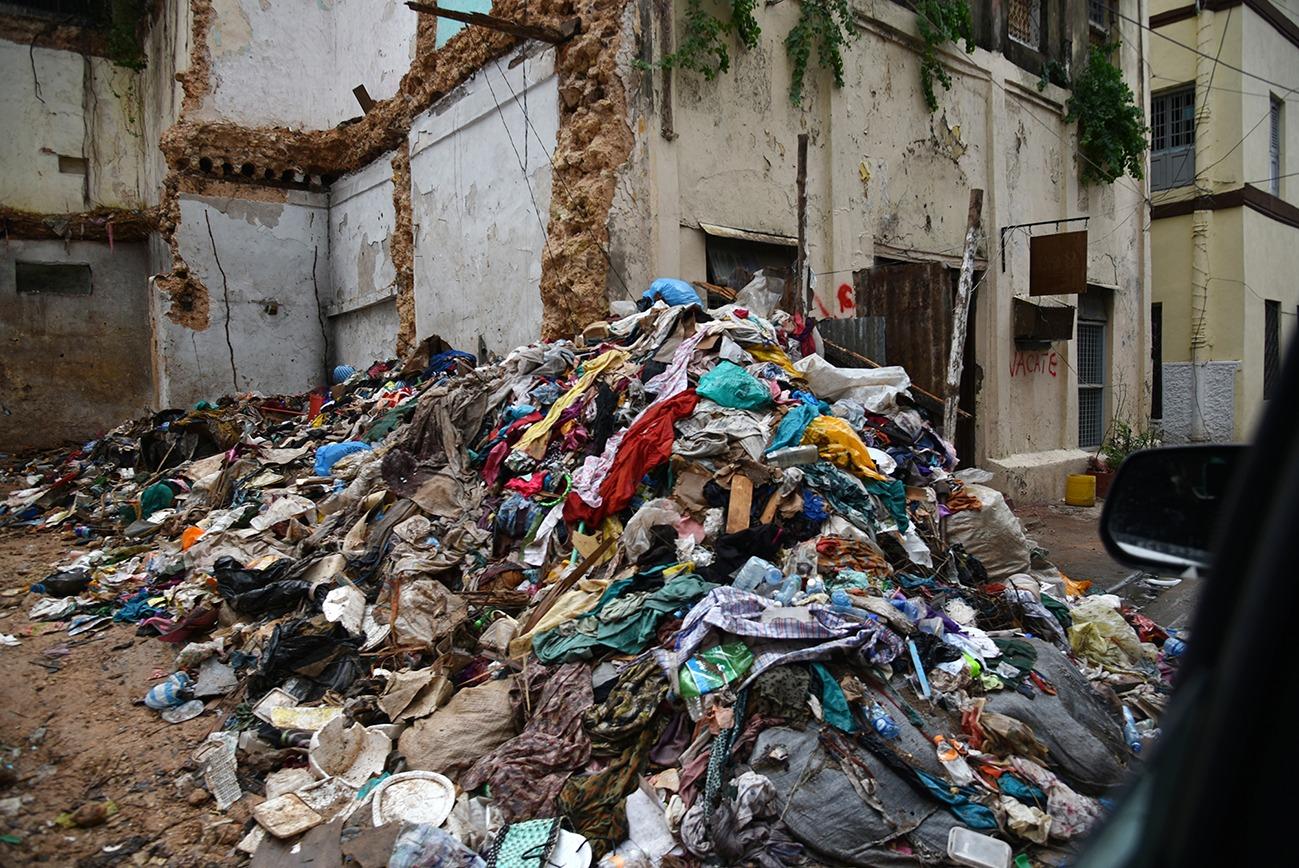 Garbage at Old Town Mombasa.