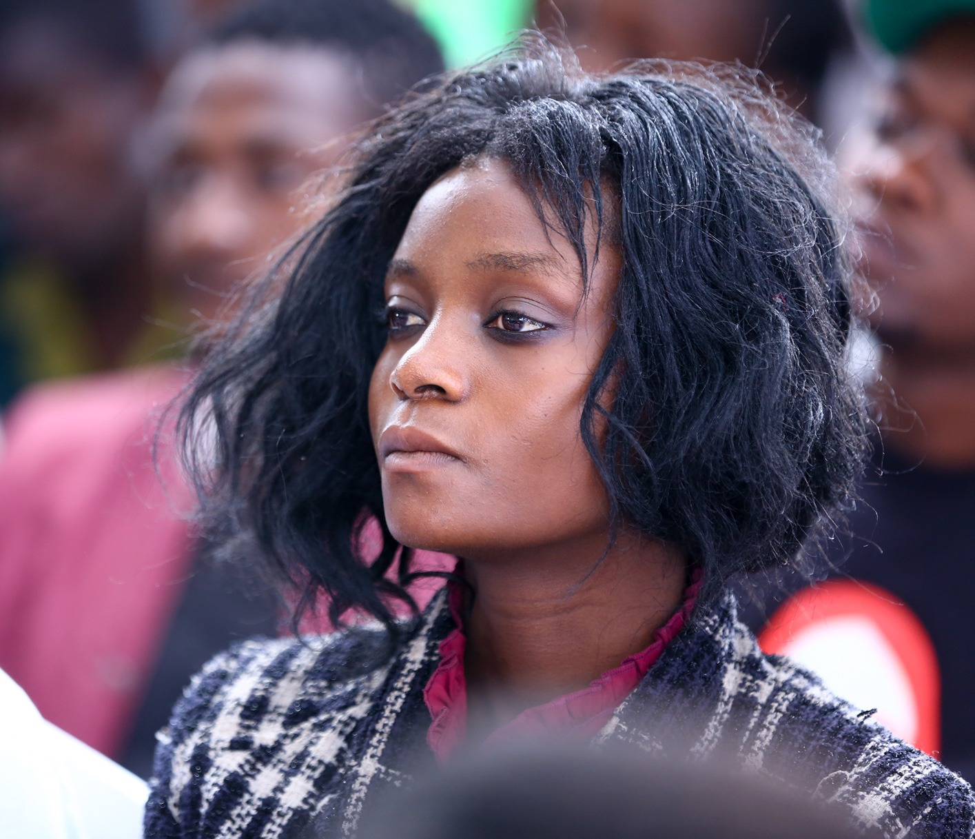 Yvonne Agnes, a beneficiary of Generation Kenya, listens in during the launch of Safaricom Foundation's Wezesha programme. The three-year economic empowerment programme aims to provide training and entry level job placement to 1,700 young people.